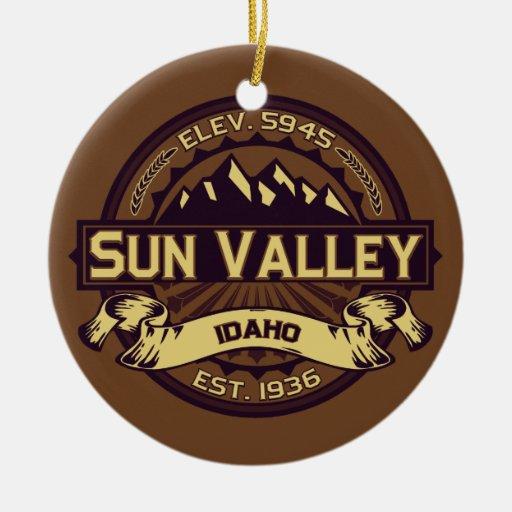 Sun Valley Sepia Christmas Tree Ornaments