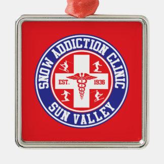 Sun Valley Snow Addiction Clinic Metal Ornament