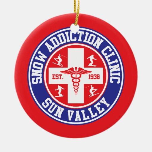 Sun Valley Snow Addiction Clinic Christmas Ornaments