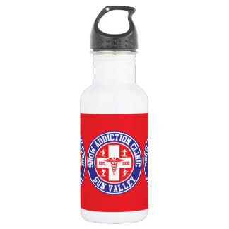 Sun Valley Snow Addiction Clinic Stainless Steel Water Bottle