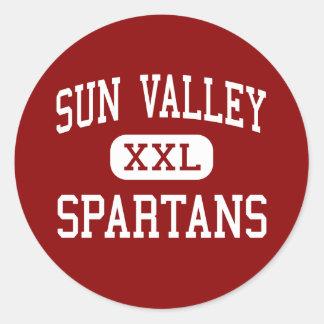 Sun Valley - Spartans - altos - Monroe Pegatina Redonda