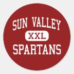 Sun Valley - Spartans - High - Monroe Classic Round Sticker