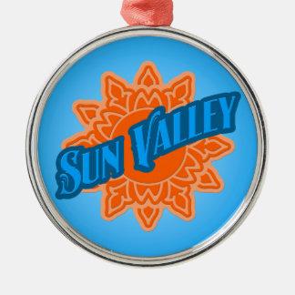 Sun Valley Sunburst Metal Ornament