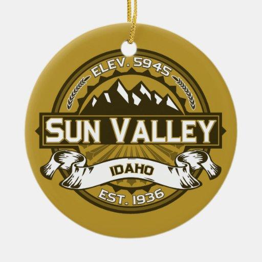 Sun Valley Tan Christmas Tree Ornaments