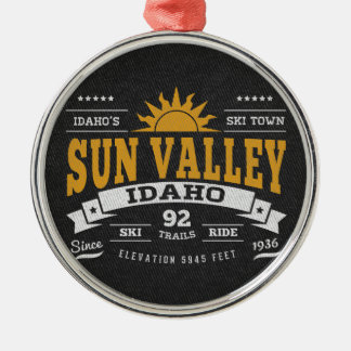 Sun Valley Vintage Gold Metal Ornament