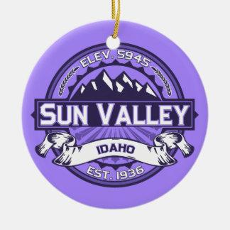 Sun Valley Violet Ceramic Ornament