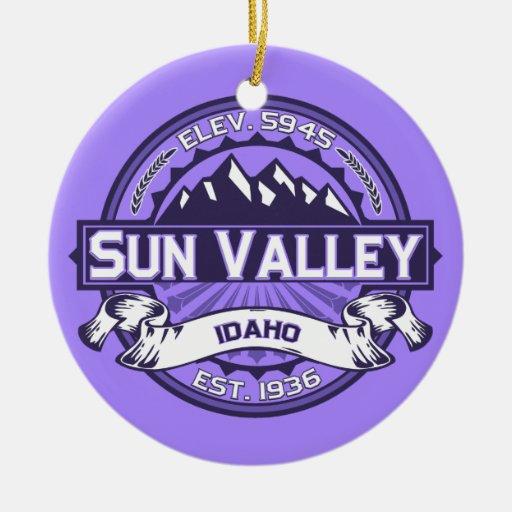 Sun Valley Violet Ornaments