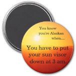 Sun visor at 3a.m. fridge magnets