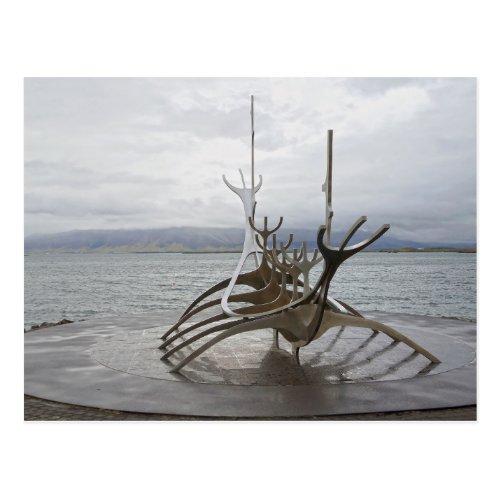 Sun Voyager Sculpture, Reykjavik, Iceland Postcard