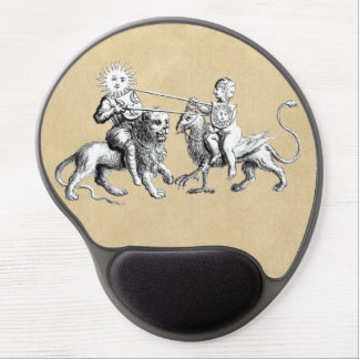 Sun vs. Moon Jousting Match Gel Mouse Pad
