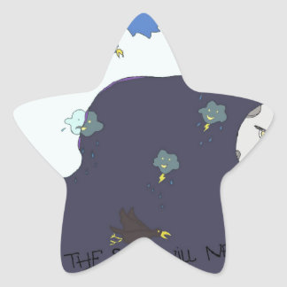 sun vs the moon! star sticker
