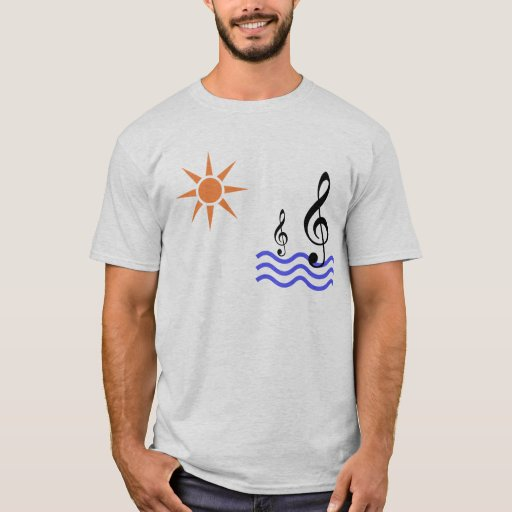 sun, water and music note T-Shirt