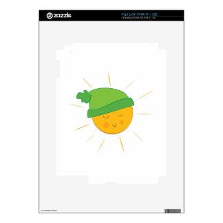 Sun Wearing Cap iPad 2 Decals