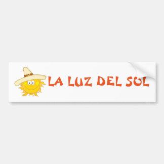 Sun Wearing Sombrero Bumper Sticker