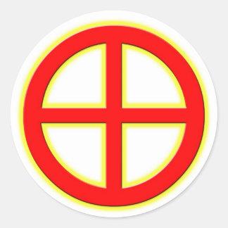 Sun Wheel Sticker