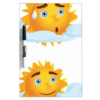 Sun with Clouds2 Dry-Erase Board