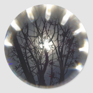 Sun with Filter Classic Round Sticker