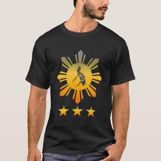SUN with Philippine Map & 3 STARS T-Shirt