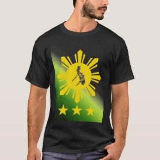 Sun with PI Map Filipino Basic Dark Shirt
