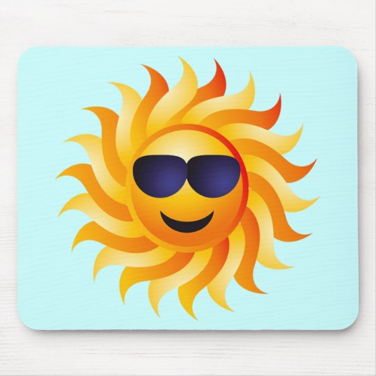 SUN WITH SHADES ON MOUSE PAD