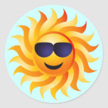 SUN WITH SHADES ON STICKERS