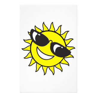 SUN WITH SHADES CUSTOMIZED STATIONERY
