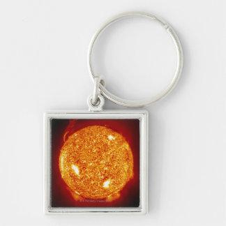 Sun with solar flares keychain