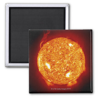Sun with solar flares magnet