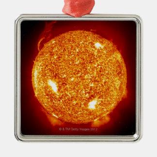 Sun with solar flares christmas ornaments