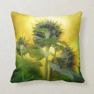 Sun Worshipers Art Designer Pillow