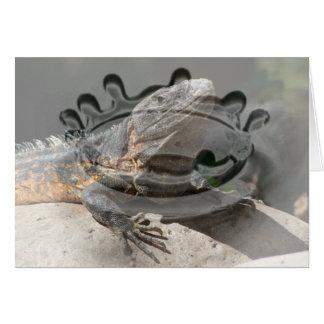 Sun-Worshipping Iguana Card