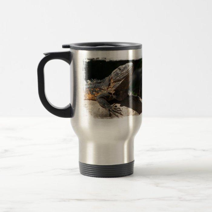 Sun-Worshipping Iguana Travel Mug