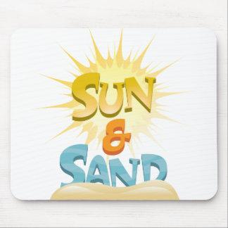 Sun y arena tapete de ratones