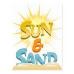 Sun y arena tarjeta postal