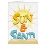 Sun y arena tarjeton