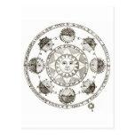 Sun y astrología tarjeta postal