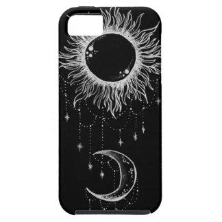 Sun y caso de Boho de la luna iPhone 5 Carcasa