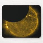Sun y cojín de ratón de la luna tapetes de ratón