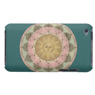 Sun y detalle de las estaciones de la antigüedad c iPod touch Case-Mate protector