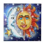 Sun y diseño celestiales de la luna azulejos ceramicos