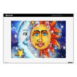 Sun y diseño celestiales de la luna skins para 38,1cm portátil