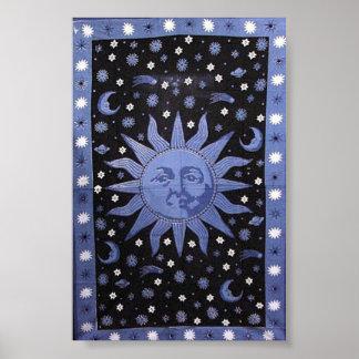Sun y estrellas póster
