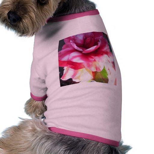 Sun y flor camiseta con mangas para perro