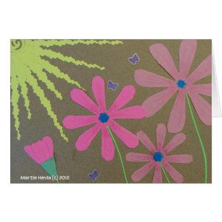 Sun y flores - libro de recuerdos tarjeta de felicitación