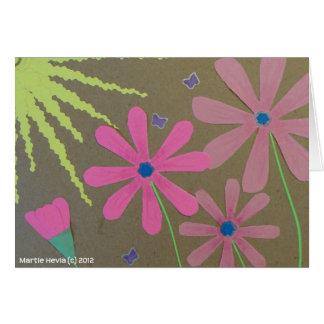 Sun y flores - libro de recuerdos tarjeta pequeña