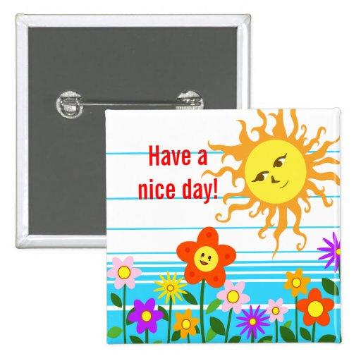 Sun y flores pin
