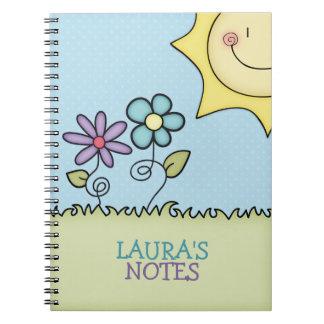 Sun y las flores, añaden su nombre notebook
