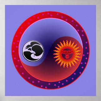 Sun y luna en equilibrio póster
