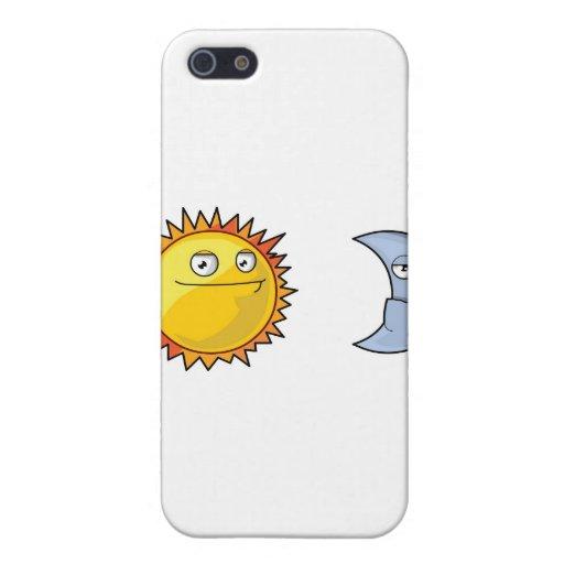 Sun y luna iPhone 5 carcasa