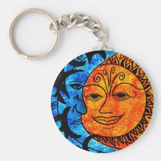 Sun y luna llaveros